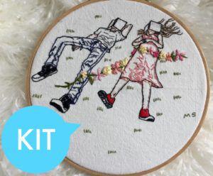 Reading Together Embroidery Kit