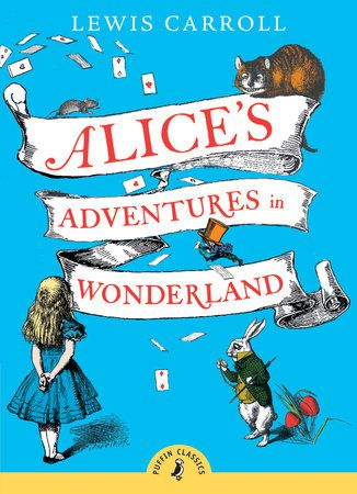 Alice's adventures in wonderland by Lewis Carroll book cover - classic