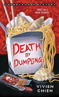 Book cover shows noodles overflowing from a Chinese takeout box.