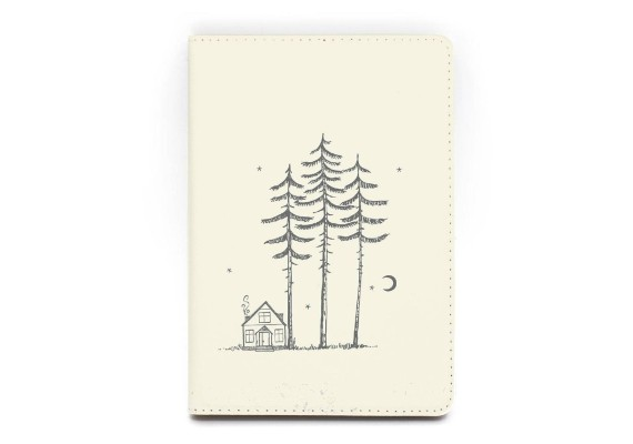 Capa de Kindle para cabana de madeira HelloJournalShop Etsy