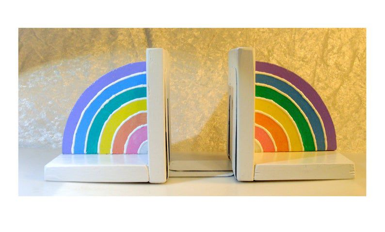 Simple Rainbow Bookends