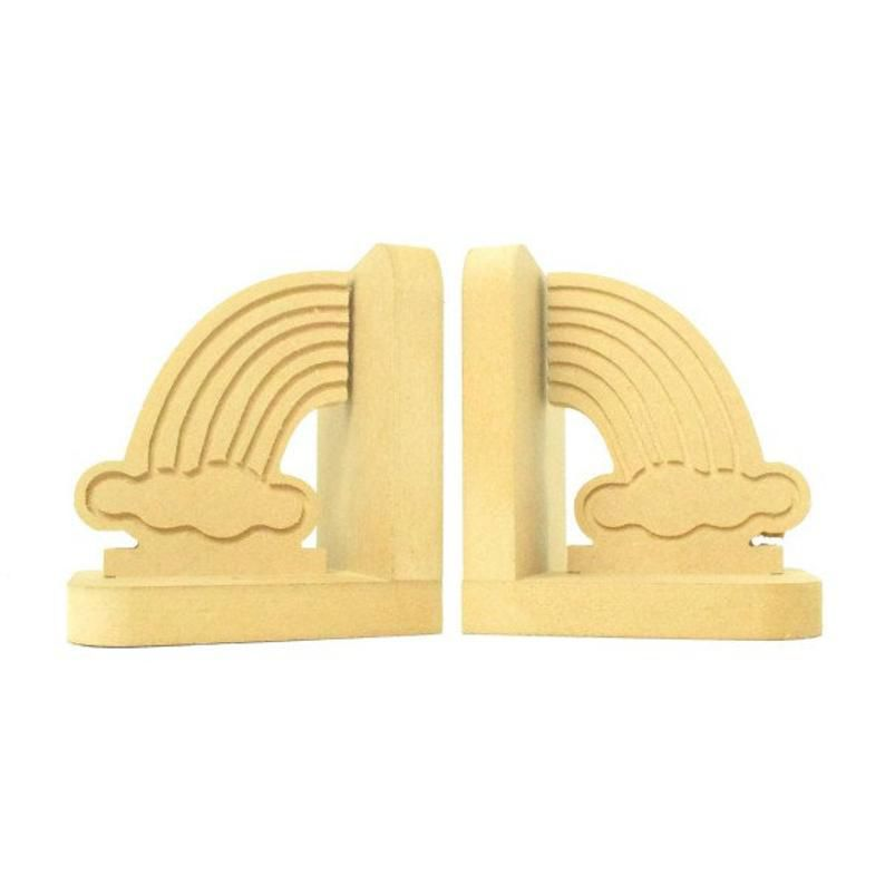 Rainbow Shaped wooden bookends