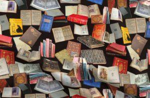 Antique Books Fabric