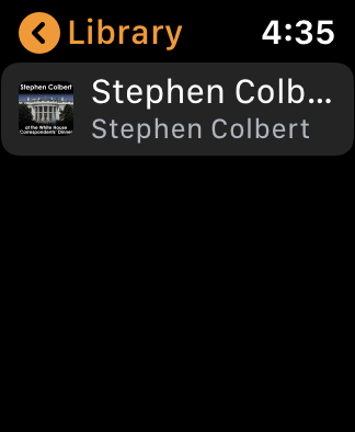 ibooks library apple watch