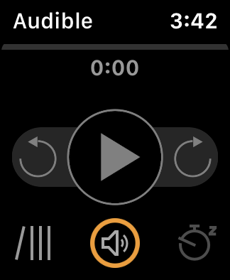 audible home screen apple watch