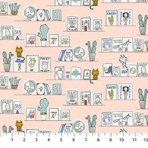 Cute Bookshelf Fabric