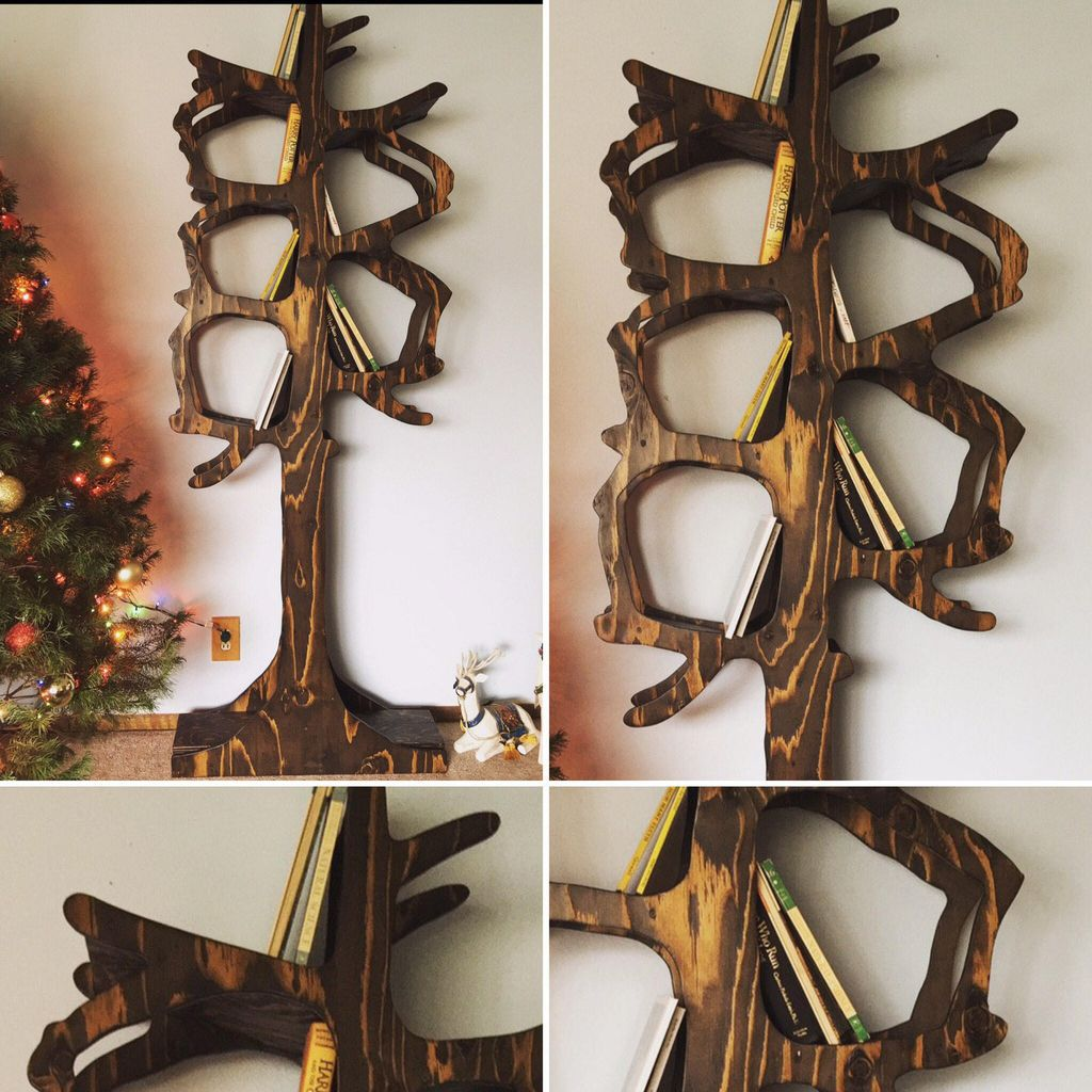 enchanted tree bookshelf