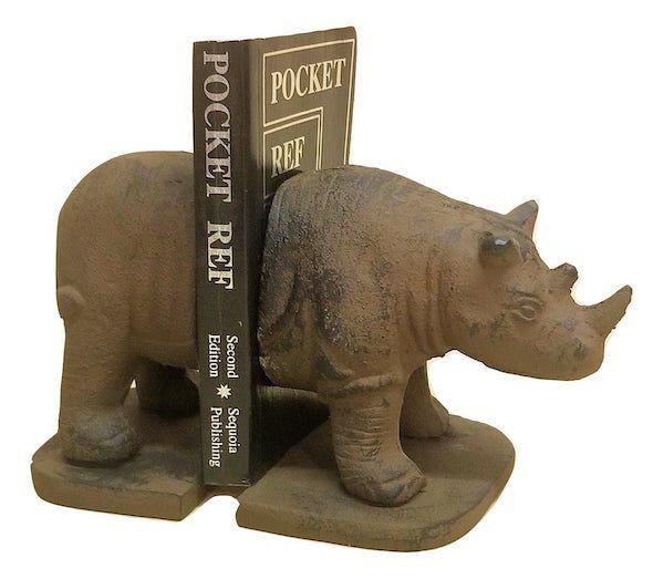 Cast iron rhinoceros. Image from Etsy shop.