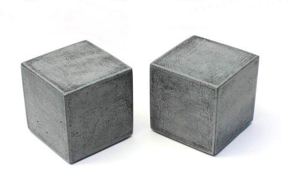 Concrete cubes.