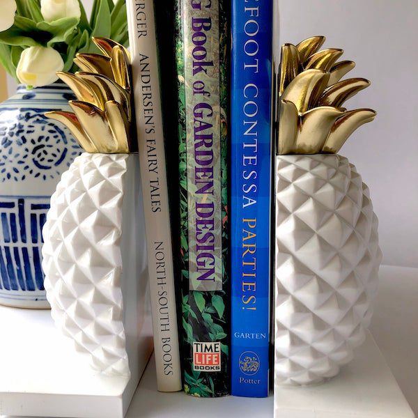 Pineapple bookend. Image from Etsy shop.