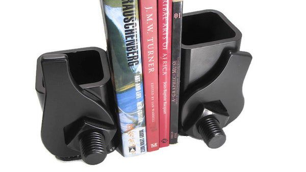 Wrench-inspired salvaged steel bookends. Image from Etsy shop.