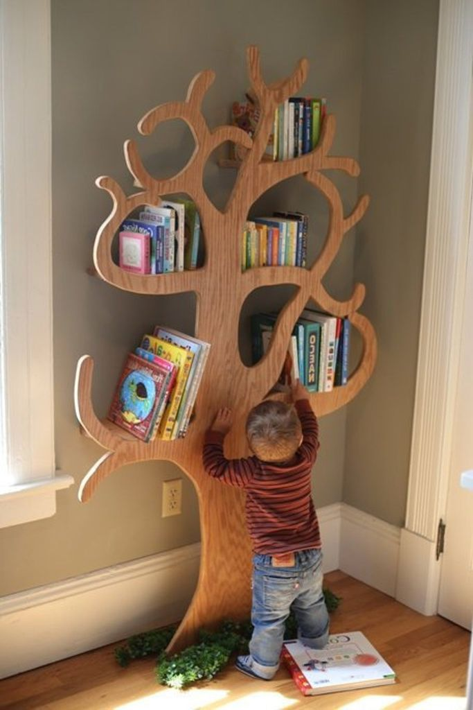 curvy tree bookshelf