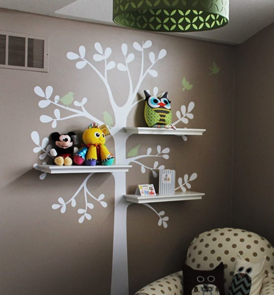 shelving tree wall sticker