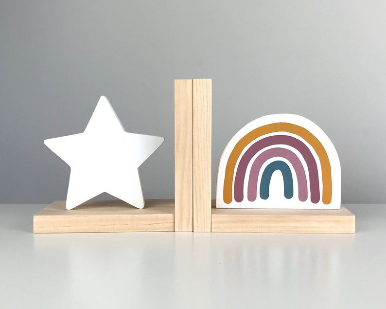 Star and rainbow bookends
