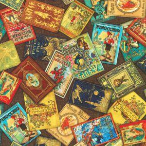 Vintage Books Fabric