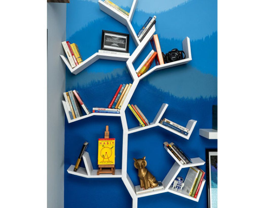 white tree bookshelf