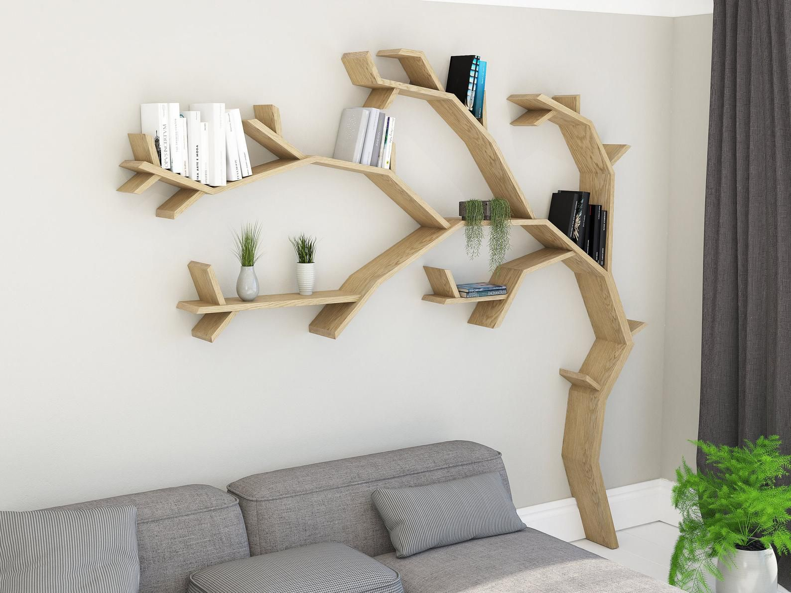 windswept oak tree shelf