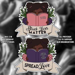 BLM bookish sticker