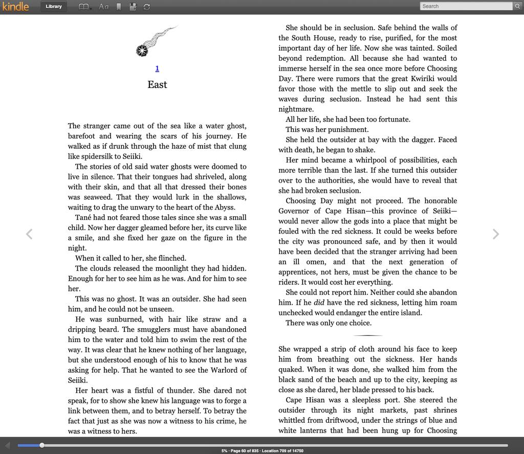 Kindle Cloud Reader Reading