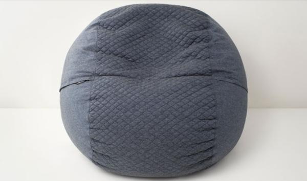 grey round pouch chair
