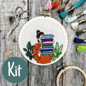 The Reader Embroidery Kit