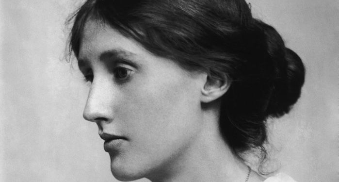 black and white image of Virginia Woolf