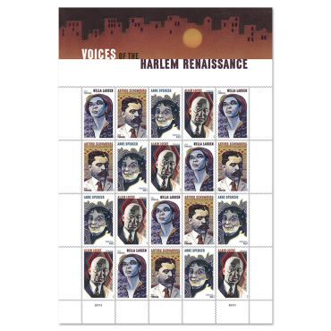 Voices of the Harlem renaissance Stamps