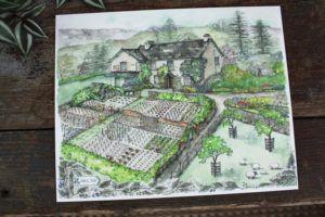 Beatrix Potter Hill Top Farm Watercolor Print