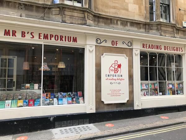 Mr. B's Emporium bookshop outside. Picture taken by me (author of post).