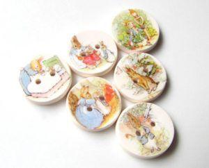 Peter Rabbit Buttons