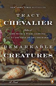 imagem da capa de Remarkable Creatures por Tracy Chevalier