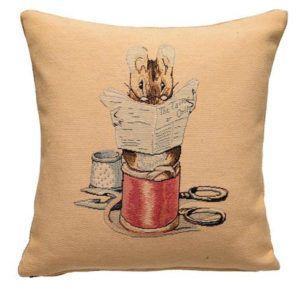 The Tailor of Gloucester Throw Pillow