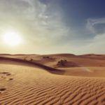Desert and sky scene