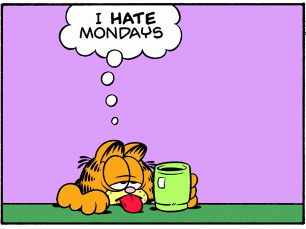 A classic Panel from the comic strip Garfield in celebration of its 40 year anniversary  © Paws  https://www.independent.co.uk/news/long_reads/garfield-40-anniversary-cartoon-strip-reading-comedy-a8406216.html