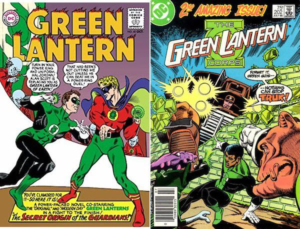 Kyle Rayner Green Lantern covers