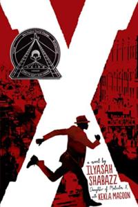 imagem da capa de X: A Novel por Ilyasah Shabazz e Kekla Magoon