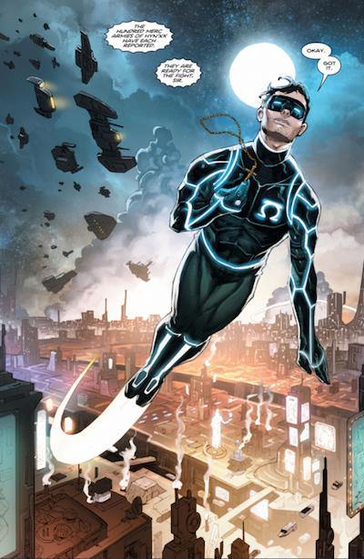 Kyle Rayner comics panel