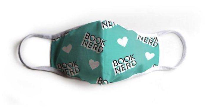 book nerd mask for literary masks