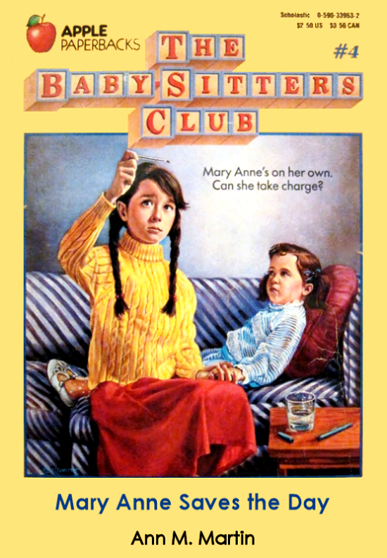 mary anne saves the day babysitters club original cover