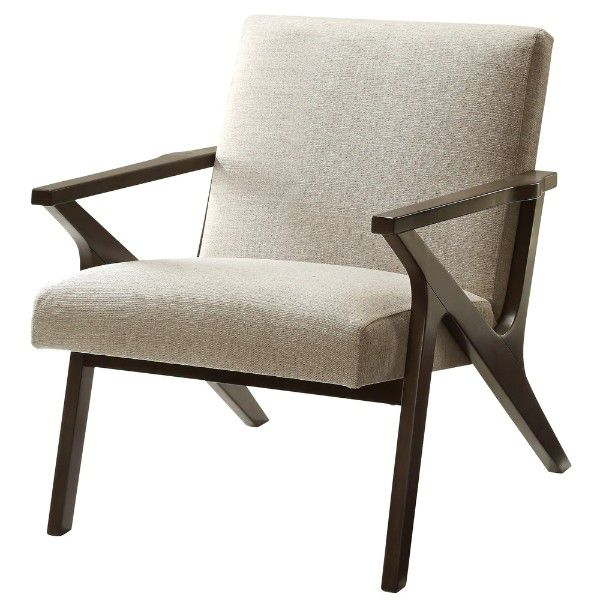 wood and cushioned chair