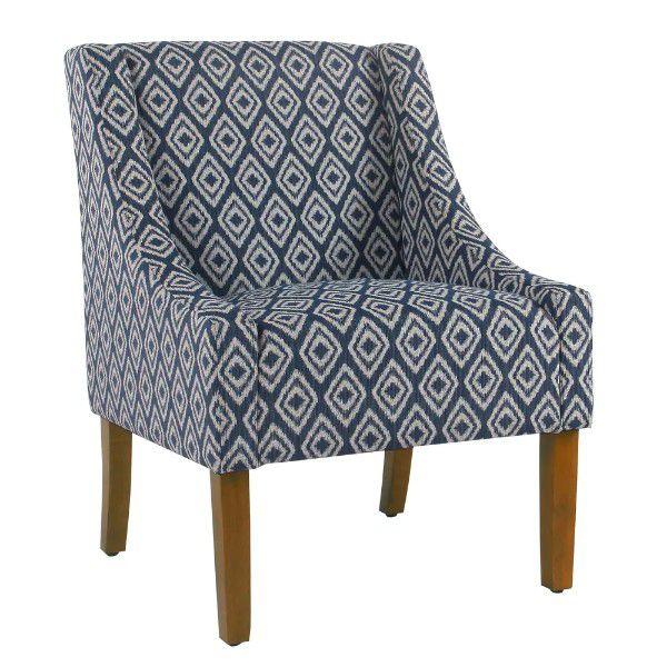 blue geometric pattern chair