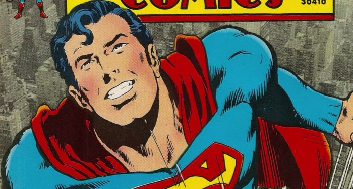 image of Superman from a DC comic book cover