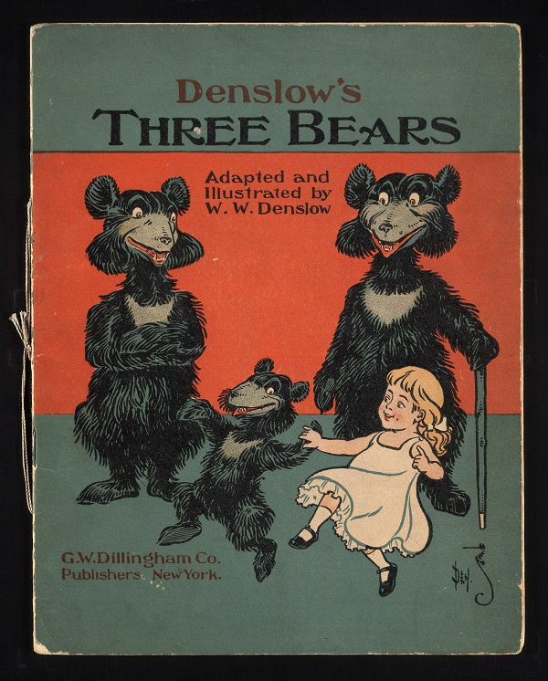 Antique book cover of the children's book Denslow's Three Bears