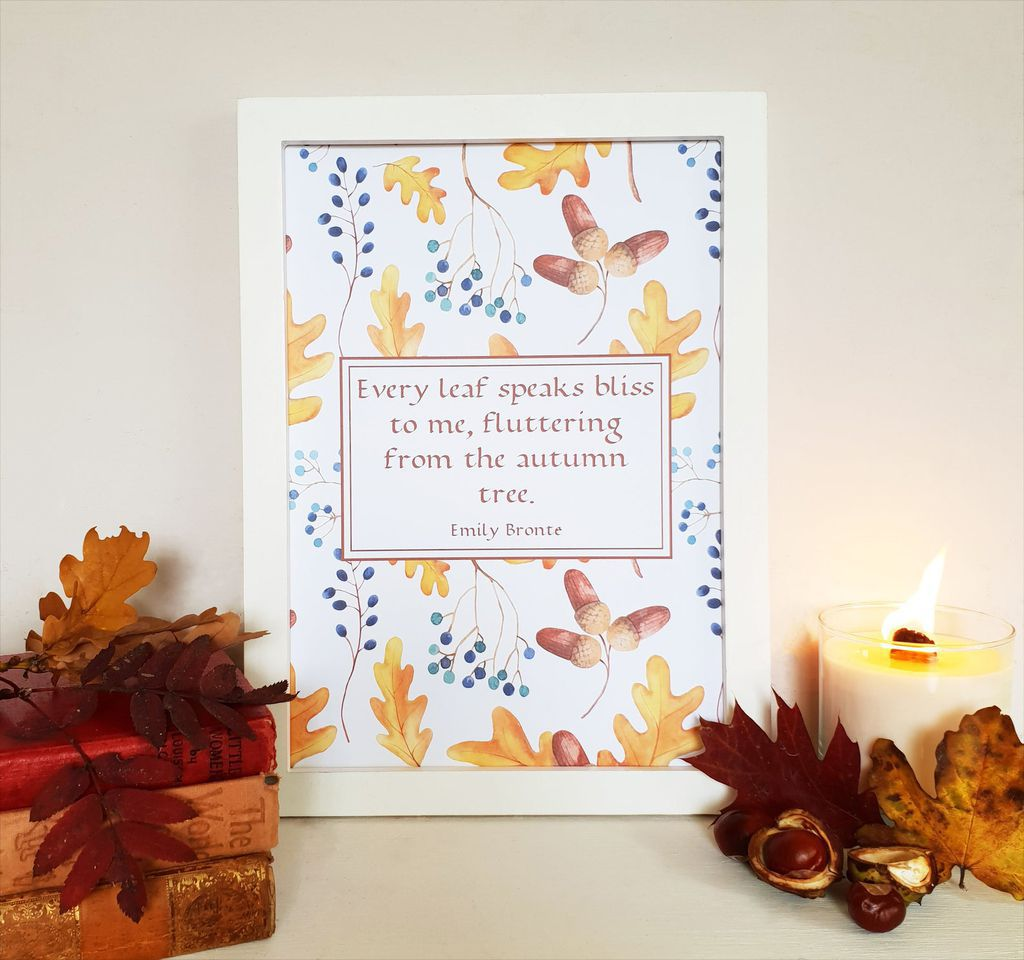 emily bronte autumn quote print