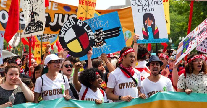 environmental activists protesting