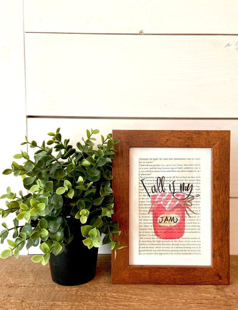 fall is my jam framed print