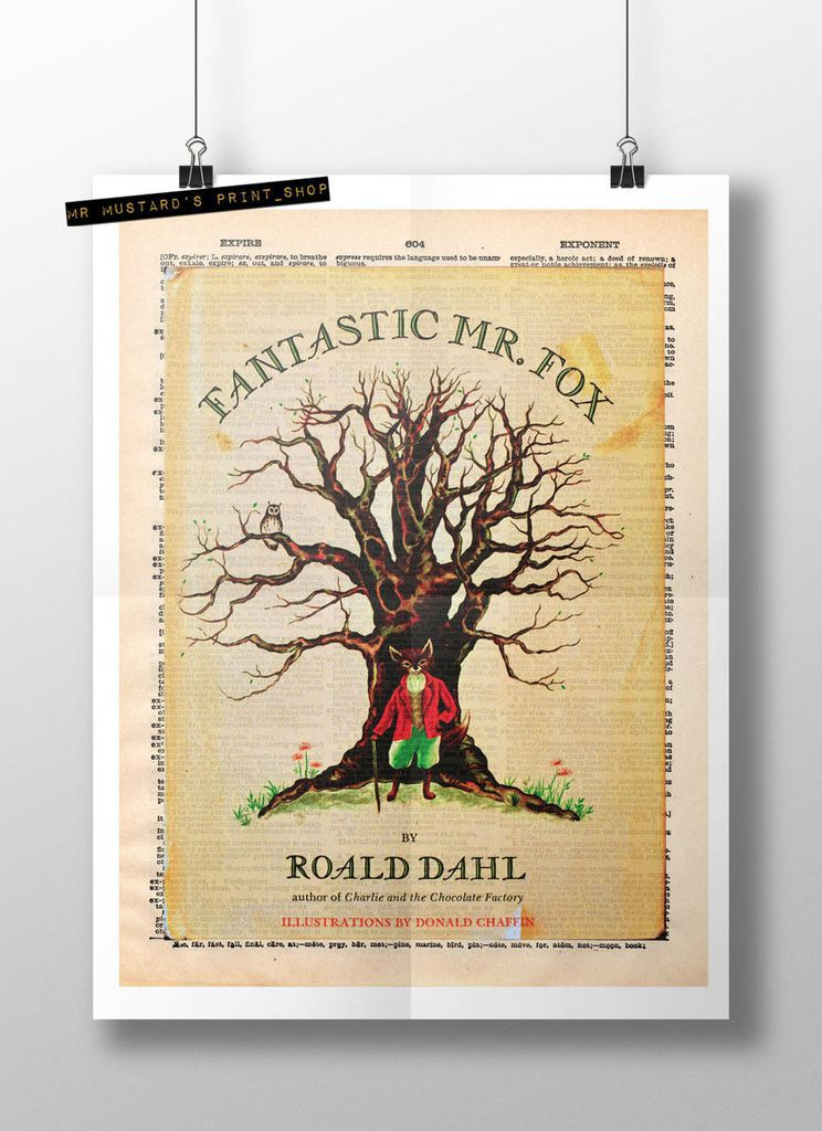 Fantastic Mr. Fox First Edition Cover Wall Print