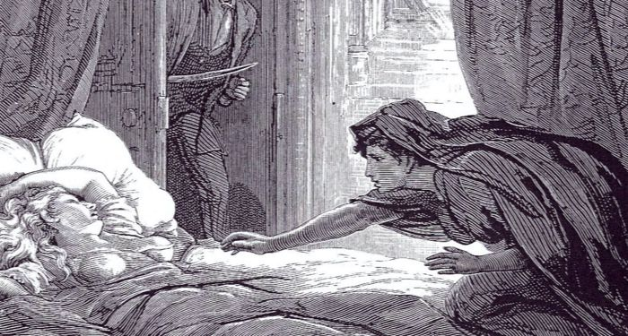 an illustration from le Fanu's CARMILLA https://commons.wikimedia.org/wiki/Category:Carmilla#/media/File:Carmilla.jpg