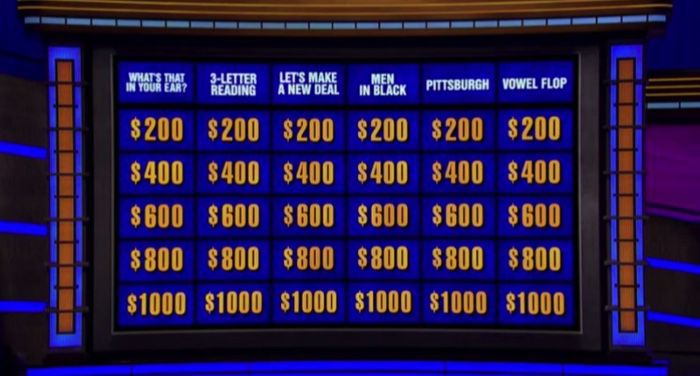 jeopardy trivia screen