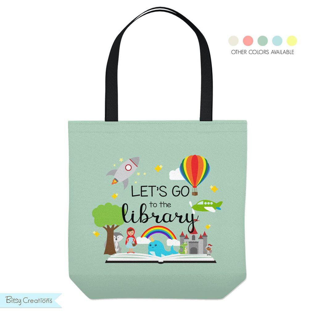 The Library is my Happy Place tote